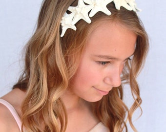 Knobby Starfish Headband, Mermaid Hair Accessory Beach Weddings, Bridal Headpiece