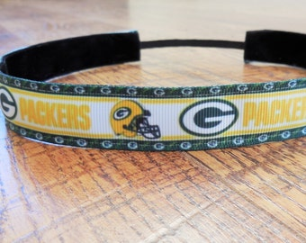 Women's Green Bay Packers headband, Green Bay Packers, packers headband, Packers hair accessory, Wisconsin packers, women's packers headband