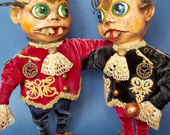 "Ooak Pure Sculpt doll ""Tweedledum and Tweedledee"""
