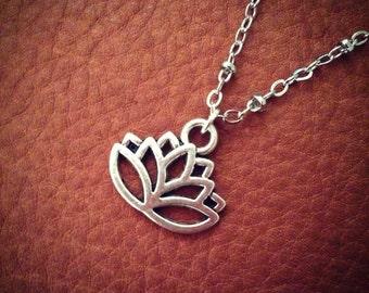 Rebirth // Lotus Necklace // Boho Necklace // Bohemian // Flower Necklace // Buddhism // Short Necklace // Silver Necklace // Zen // Yoga