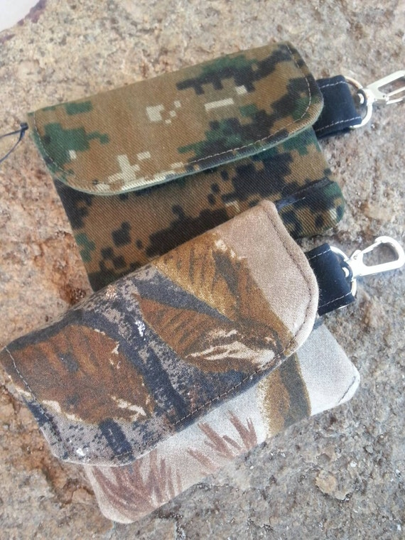 Camo wallet, Digital Camo Wallet with Zipper
