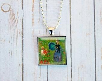 Claude Monet Poppy Fields, Claude Monet Jewelry, Poppies Jewelry, Monet Jewelry,  Impressionism