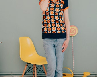 "Sporty short sleeve ""on a COLOURFUL meadow"""