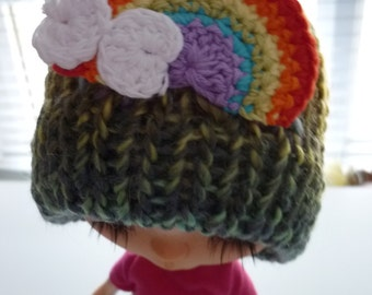 NEW Blythe Knit Hat with Rainbow
