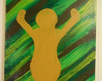 Goddess Form painting, acrylic on canvas
