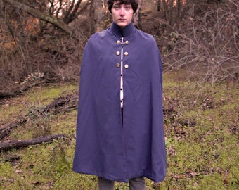 Red-lined Navy Blue Cape