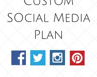 Custom made Social Media Marketing Plan / Strategy - For Advanced Users with some social media experience