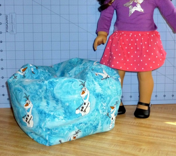 Items Similar To Frozen Olaf Bean Bag Chair For Dolls