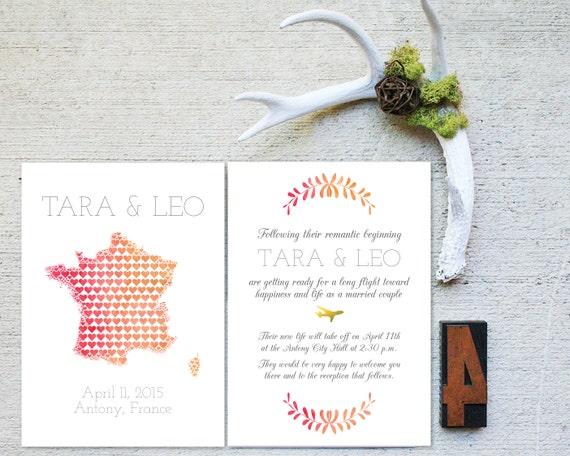Wedding Invitation Sample Map Theme Travel By FrannyandFranky