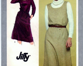 Simplicity 9602 DIY Pullover Dress or Jumper Jiffy Vintage Sewing Craft Supply - CUT