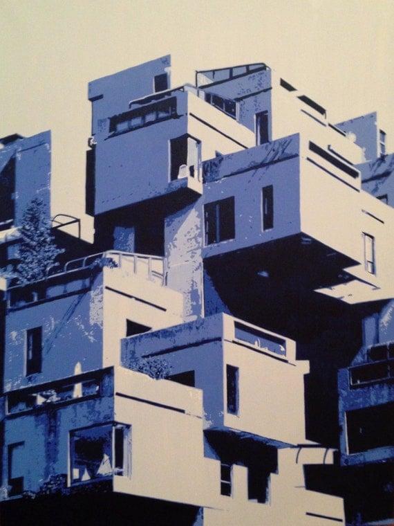"Chicago Architecture Custom Pop Art Painting 30""x40"" Canvas"