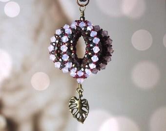 DIY jewelry making pattern, Tutorial RAW beaded sphere, beaded bead, Dragon's sphere pendant, Dragon's orb pendant