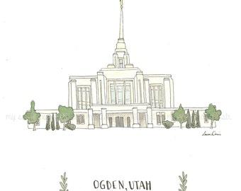 Ogden Temple Etsy
