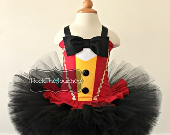 Red Black Ring Leader Lion Tamer Master Tutu Dress | Circus Carnival | Soldier Birthday Party | Halloween Costume Pageant Outfit Baby Girl 1