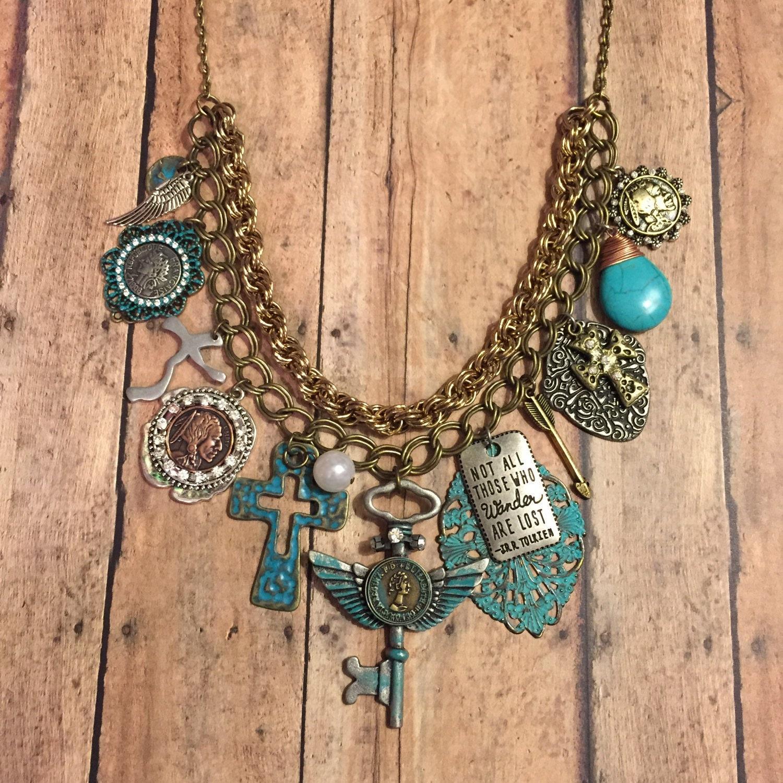 Boho Chic Gypsy Statement Necklace Bib Necklace Handmade. Boy Lockets. Sisterhood Bracelet. Bow Rings. Country Girl Wedding Rings. Beaded Gold Jewellery. Plain Gold Band. Lady Pendant. Woman Bracelet