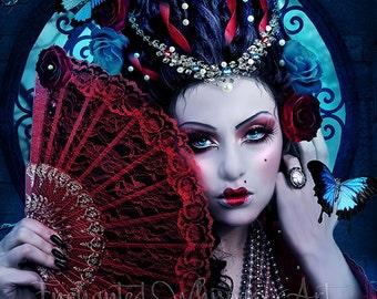 fantasy Marie Antoinette portrait art print