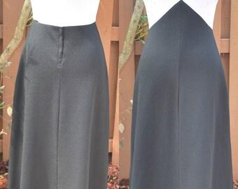 Vintage 1960s Sleevelss Black White Long Dress Small medium
