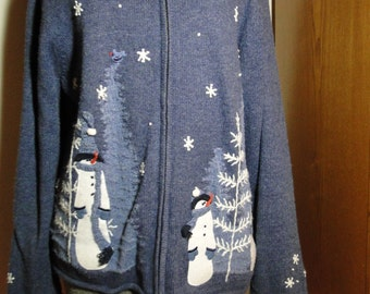 Cheap Ugly  Christmas Sweater Large K5
