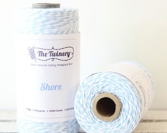 BlueTwine, Blue Bakers Twine, Craft Twine, Packaging Twine, Blue Baby Shower, Card Making, Rustic Wedding, Cotton Twine, Twinery Twine