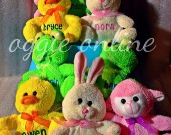 Personalized Stuffed Animal, Easter, Valentine's Day, Baby Gift