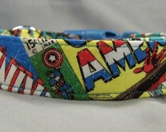 Marvel Comics Fabric Superhero Dog Collar Boy Dog Collar