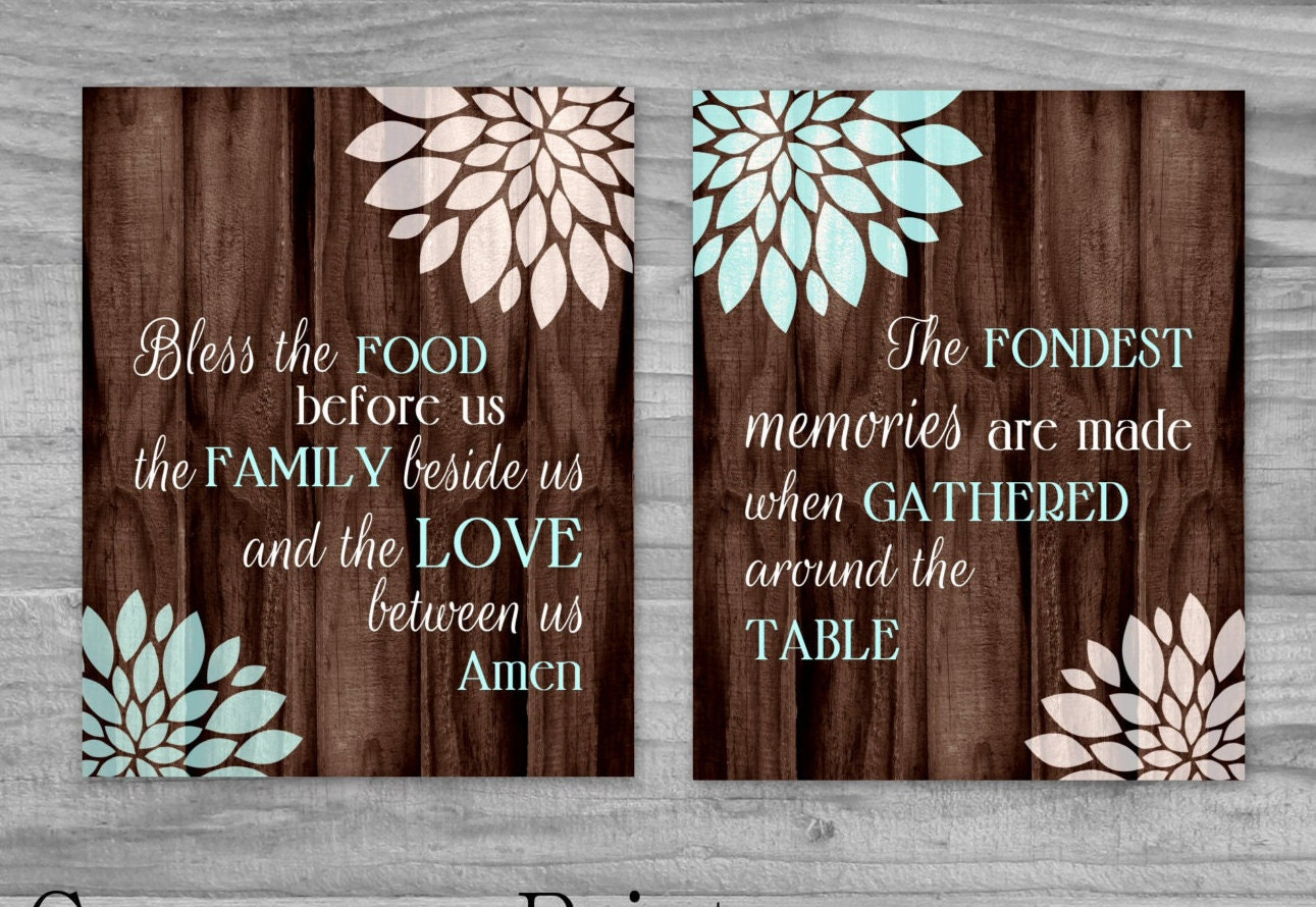 Kitchen art set canvas sale bless the food before us and the for Kitchen colors with white cabinets with home sweet home canvas wall art