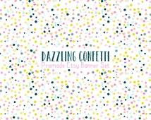 Etsy Cover Photo -  Etsy Banner - Etsy Shop Set -Dazzling Confetti