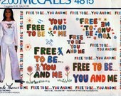 McCall's 4815 Carefree Patterns Four-Color Iron-On Transfers