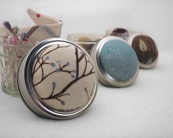 Pin Cushion, Pincushion, Pin Sharpening Emery Pincushion, Mason Jar Pin Cushion, Pin Cushion Jar, Gift Under 20, Shower Gift