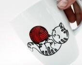 cat mug, cij, christmas cat lover gift, christmas gift, personalized gift