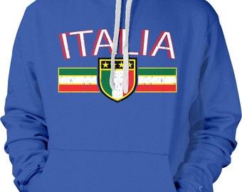 ITALY Country Sweatshirt, Italia Hoodie, Two Tone Sweatshirt, Italian Flag Sweatshirt, Italian Hoodies ITA-01_2tonehood