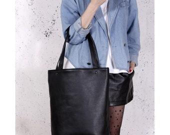 Mega Shopper bag black tote bag shoulder oversized extra large
