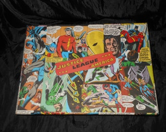 CLEARANCE Justice League Hand Decorated Comic Storage Box