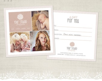 Gift Certificate Template for Photographers - GC05