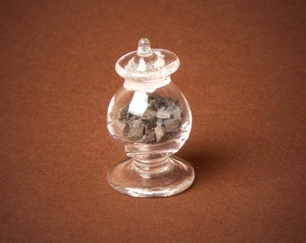 Miniature Glass Bowl with Chocolate for Your Dollhouse