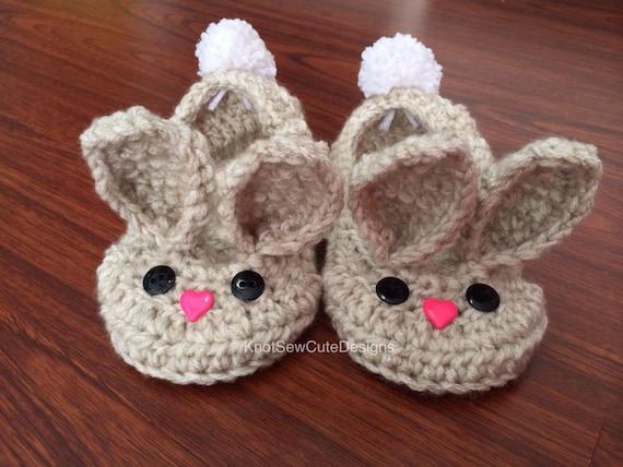 Crochet Slipper Pattern - Oma House Slippers |Baby Bunny House Slipper Crochet Pattern