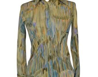 Womens/Ladies 1970's Vintage Clothes, Retro Blouse/Shirt