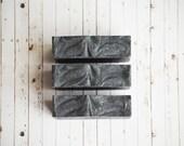 Lava Bliss Sea Salt and Charcoal Soap, Natural Essential Oil Soap, Cold Process Soap, Detox Soap, Organic Soap, European Sea Salt SPA Soap