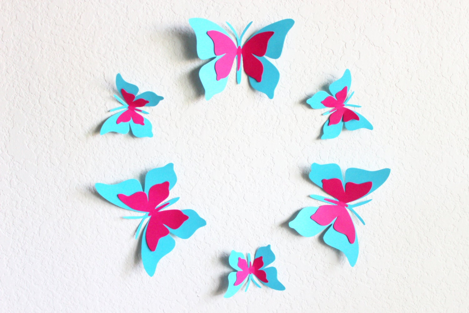 Baby shower decorations butterfly wall decor 3d butterfly for Baby shower decoration butterfly