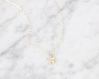 Tiny Star of David Necklace - 1039