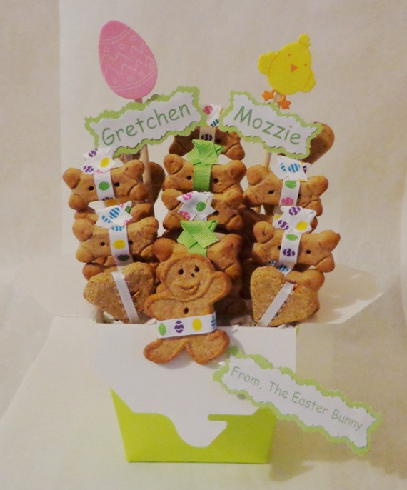 Easter basket for dogs dog gift basket dog treats gift for like this item negle Images