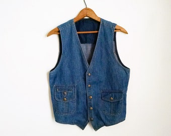 Vintage Lee Denim Vest - 38R