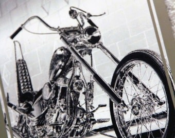 Framed 5x7 inch photo of Harley-Davidson Captain America chopper from EASYRIDERS movie!