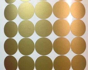Peel and Stick Metallic Gold , silver Polka Dot Wall Decals,nursery children bedroom livingroom bathroom kitchen Apartment long life decal