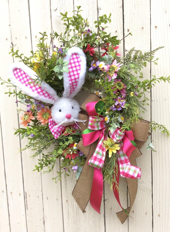 Easter Bunny Wreath Bunny Wreath Easter Wreath Spring