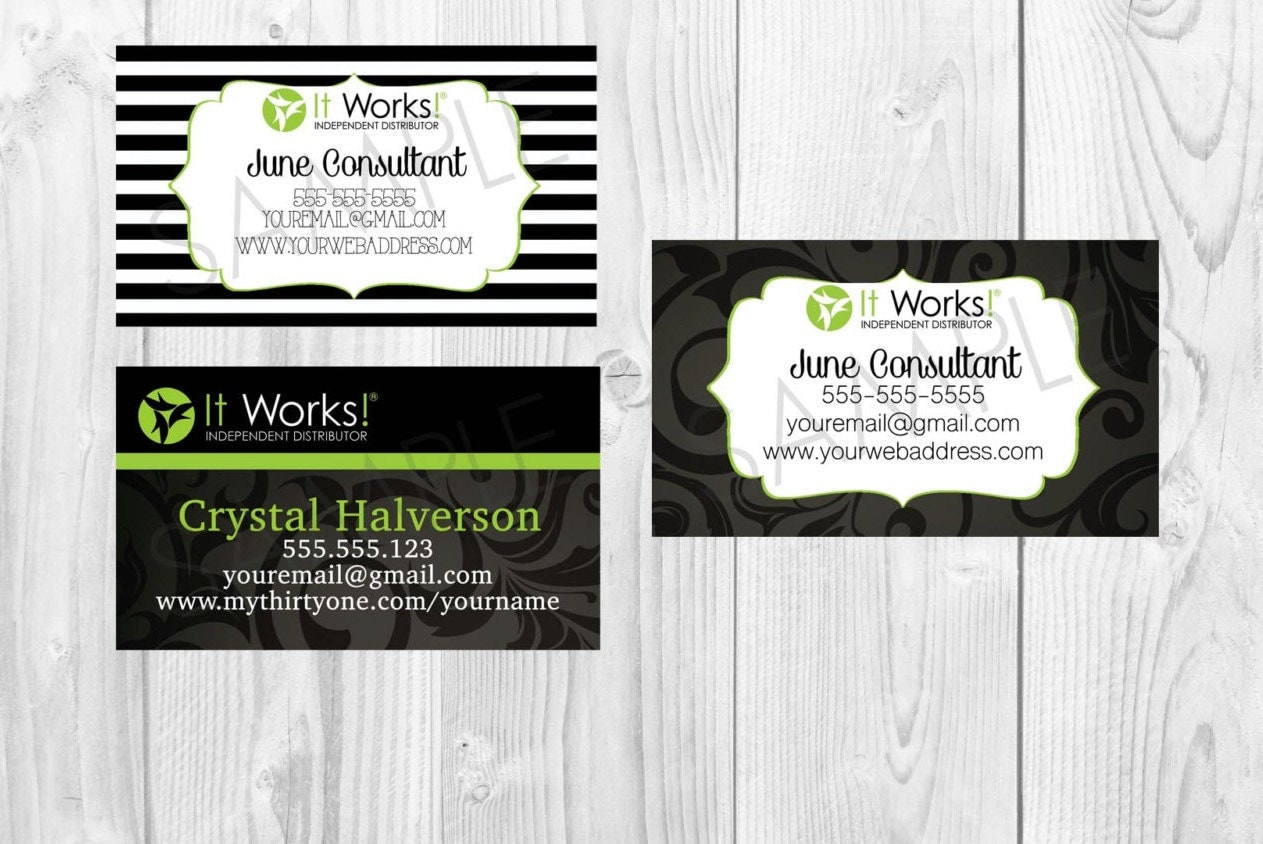 It Works Business Card You choose which one by