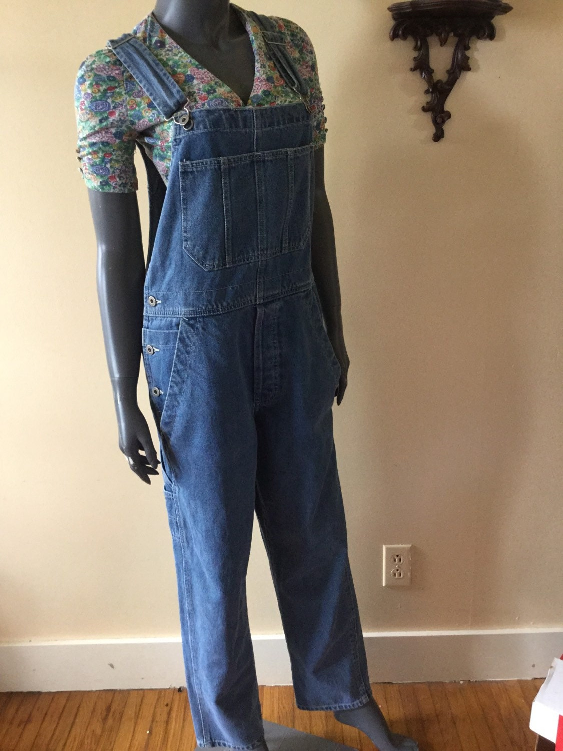 90s Overalls Grunge Womens Baggy jeans by 3GenerationCuration