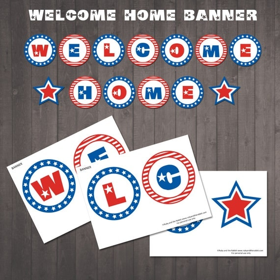 Peaceful image in printable welcome home banner
