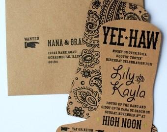 Yee-Haw Boot Invitation