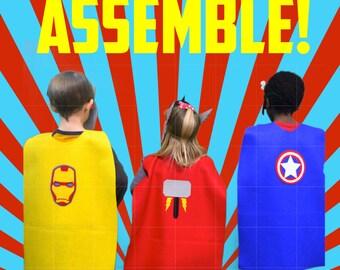 Custom Toddler/Child Superhero Capes ( Ages 2-5)